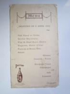 1936 MENU Monsieur BRULEZ (NEUILLY L'EVEQUE (Haute-Marne)) Grand Hôtel Moderne CHAUMONT PERRIER Champagne Des Eaux De - Menükarten