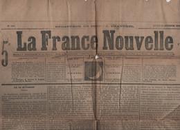 LA FRANCE NOUVELLE 23 10 1876 - EXECUTION DE MARIE ANTOINETTE - MAC MAHON - FALAISE MESNIL VAL - TURQUIE RUSSIE - ST CYR - 1850 - 1899