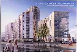 Carte Postale : 33 BORDEAUX : Tour SILVA, Bordeaux Saint-Jean Belcier, BELLECOUR Architectes - Bordeaux
