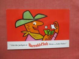 I Hit The Jackpot At Harrah's Club Reno & Lake Tahoe     Ref  4997 - Reclame