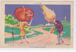 Cpa - Publicité - Legume Humanisé - Tomate / Navet - Potasses D'Alsace - Illustrateur A Definir - Edi E.D.I.A. Paris - Reclame