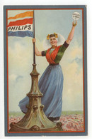 Cartolina Philips Non Viaggiata Lampadina Guglia Ragazza Bella - Reclame