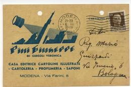 Cartolina Pini Giuseppe Di Gersoli Veronica Casa Editrice 1935 Viaggiata - Reclame