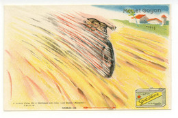 Cartolina Spidoléine Monet Goyon 1924 Non Viaggiata Motociclismo Bella - Reclame
