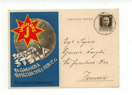 Cartolina Junghans Marca Stella Da Garanzia Di Precisione 1938 Viaggiata Orologi - Reclame