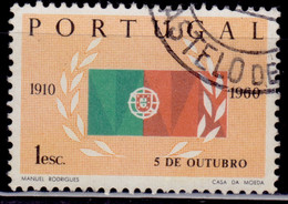 Portugal, 1960, 50th Anniversary Of The Republic, 1e, SW#891, Used - Used Stamps