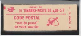 FRANCE CARNET FERME DE 10 TIMBRES BEQUET 0,50 ROUGE - 1664 C7 - Freimarke