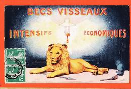 SAM052 ♥️ Peu Commun BECS à Gaz VISSEAUX Intensifs Economiques Lion Cppub 1913 à GAUTIER Facteur Celon Indre - Reclame