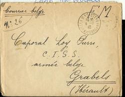 LAC:  Franchise Militaire  (courrier Belge) Obl. 09/07/40 De LAMAGISTERE - Franquicia