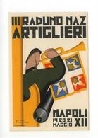 Cartolina Terzo Raduno Nazionale Artiglieri 1920 Non Viaggiata Walter - Altri