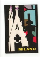 Cartolina Milano Dal Bozzetto Del Pittore M. Nizzoli 1954 Non Viaggiata - Reclame