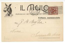 Cartolina Il Mulo Periodico Anticanagliesco 1915 Viaggiata Rivista Cattolico - Reclame