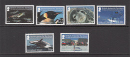 2016 British Antarctic Territory Environmental Protection Penguins Seals Whales Flags  Complete Set Of 6   MNH - Nuevos