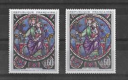 N° 1419 VARIETE DE COULEUR (couleur Rouge Décalée Au Niveau Du Cercle Pointillé)  NEUF** - Curiosa: 1960-69 Postfris
