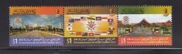 2013 Brunei Asean Summit  Complete Set Of 3 MNH - Brunei (1984-...)