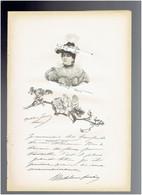 MADELEINE LEMAIRE 1845 LES ARCS SUR ARGENS 1928 PARIS PEINTRE ILLUSTRATRICE PORTRAIT AUTOGRAPHE BIOGRAPHIE ALBUM MARIANI - Documenti Storici