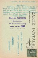 VENDEUR DE RONCES ; Pierre Tavernier, Représentant, Tours  1924 (Blois, Eglise St Nicolas, Au Verso) - Reclame