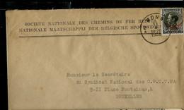 Env. ( E )  N° S 19 (seul Sur Lettre) Obl. MONS - 2 A - Du 11/10/1935 - Officials