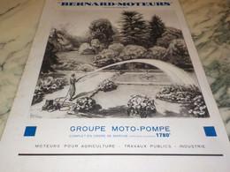 ANCIENNE PUBLICITE LUMIERE ET L EAU BERNARD-MOTEURS 1936 - Autres