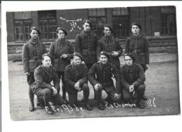Carte Photo  Groupe De Soldats  Les As De La Chambre 186  125 - Non Classificati
