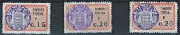 MC3-/-270- TIMBRE FISCAL - TYPE DAUSSY, N° 86, 87, 87a, * * ,  FILIGRANE ITVF - COTE 9.00 €,  IMAGE DU VERSO SUR DEMANDE - Nuevos