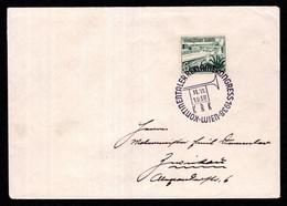 DR Brief WIEN - Zwickau - 11.VI.1938 - Koninentaler Reklamekongress 1938 - Storia Postale