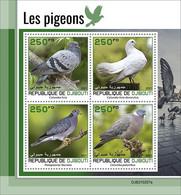 2021/05- DJIBOUTI - PIGEONS        4V   MNH ** - Palomas, Tórtolas