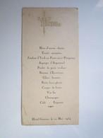 1934 MENU SERVANCE (Haute-Saône 70) Hôtel GARNIER - Menükarten