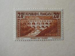 FRANCE  Pont Du Gard   N° 262 Cote 550 €  Neuf Sans Charnière LUXE - Unused Stamps