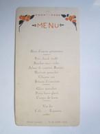 1932 MENU SERVANCE (Haute-Saône 70) Hôtel GARNIER - Menükarten