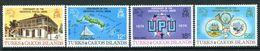 Turks & Caicos Islands 1974 Centenary Of UPU Set MNH (SG 426-29) - Turks- En Caicoseilanden