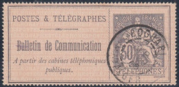 TELEPHONE 17 - 30c -Oblitération BOGHARI / ALGERIE - Telegraaf-en Telefoonzegels