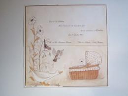 1982 FAIRE PART NAISSANCE  Karine Et Adeline Christian CHEMIN ROGNAC (Bouches-du-Rhône 13) EMILIE - Nacimiento & Bautizo