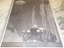 ANCIENNE  PUBLICITE  QUI VIENT LA VOITURE  DELAGE 1920 - Auto's