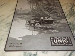 ANCIENNE PUBLICITE A PUTEAUX DES AUTOMOBILES  UNIC  1920 - Auto's
