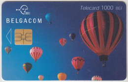 BELGIUM - Air Balloons, 1000 BEF, 07/01, Tirage 20.000, Used - With Chip