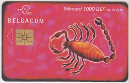 BELGIUM - Zodiac : Scorpion, 1000 BEF, 10/01, Tirage 20.000, Used - With Chip