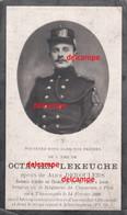 Oorlog Guerre Octave Lekeuche Thimougies Sergeant Gesneuveld Te Diksmuide Bruggehoofd En Ovl Hospital Alveringem 1915 - Devotion Images
