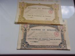 ALUMINE ET DERIVES (250 Francs + Fondateur) - Unclassified