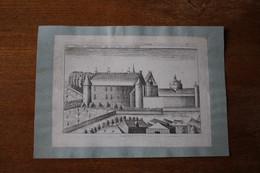 Gravure Donay Chasteau De Sainctonge 18° - Documenti Storici