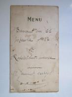 1957 MENU BANQUET ROSIERES SUR MANCE (Haute-Saône 70) JANNIOT Georges - Menükarten