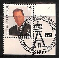 [815888]TB//O/Used-Belgique 1993 - Bruxelles-Brussel, Familles Royales, Célébrité - Royalties, Royals