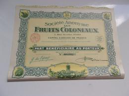 LES FRUITS COLONIAUX (1930) - Unclassified
