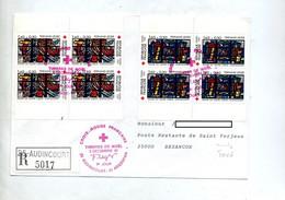 Lettre Recommandée  Fdc 1981 Audincourt Croix Rouge Taxée Poste Restante  Sur Fleur - 1980-1989