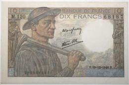 France - 10 Francs - 19-12-1946 - PICK 99e.7 / F8.16 - SPL - 10 F 1941-1949 ''Mineur''