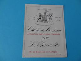 Etiquette Neuve Château Montrose 1938 Saint Estèphe - Bordeaux