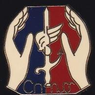 71591-Pin's-C.N.M.O.Centre National De Mise En Oeuvre.Militaire.Armée.signé Béraudy Vaure. - Militari