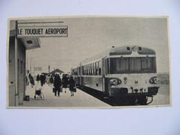 1969 Autorail En Gare SNCF De LE TOUQUET AEROPORT Le Touquet Paris Plage 62 - Non Classés