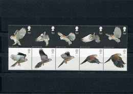 GREAT BRITAIN 2003 STRIP With FALCON & OWL.MNH. - Águilas & Aves De Presa