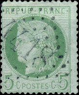 France - Yv.53 5c Cérès Dentelé - Obl. GC 4418 (ind. 8, BRAUX, Alpes De Haute Provence) B - 1849-1876: Periodo Clásico